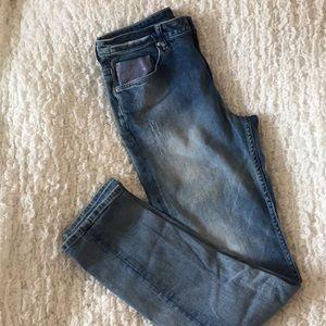 H&M Denim Jeans with Blue Sequins Pocket